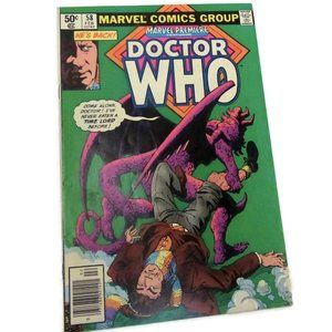 """Dr. Who Marvel Premiere #58 1981 """"He's Back!"""" Against the Gods - Good Condition"""